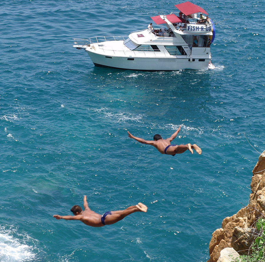 Paseo en yate en la bah a de acapulco fish r us for Fishing r us